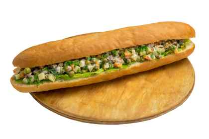 Sandwich with olivier salad