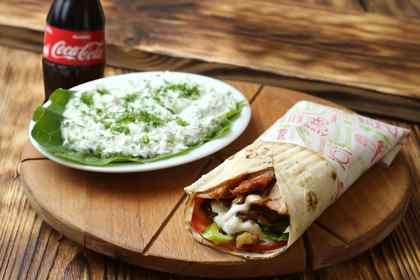 Combo with pork shawarma